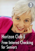 Horizon Club - Free Interest Checking for Seniors